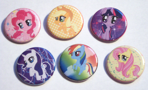 My Little Pony Buttons by IcyPanther1