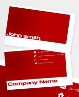 Red Business Card by Freshbusinesscards
