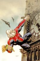 Captain Britain variant by JohnRauch