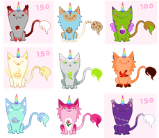 Unicat adoptables sheet 80pt +special ones [close] by unicorngirl1