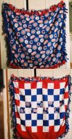 Cubs Fleece Blanket by UrsulaPatch
