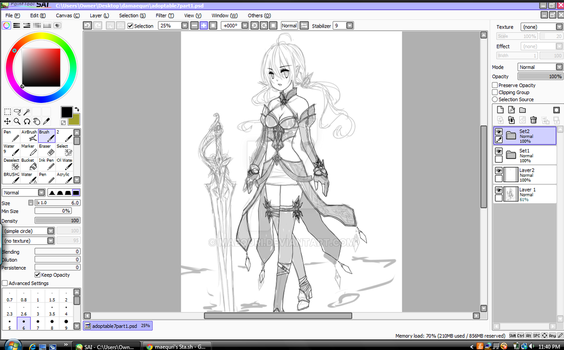 Fantasy Adoptable W.I.P. Preview Part2 by maequri