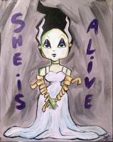 Acrylics / She's Alive ! by Satanisapunk