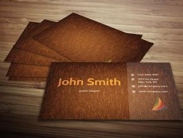 Wooden Business Card Template by Designslots