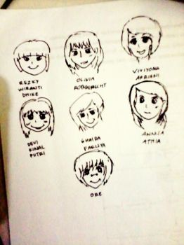 Fanart J Member and JKT48 New Trainee by mhildiunity