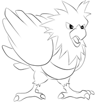 021 Spearow Lineart by lilly-gerbil