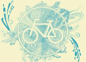 Blue Bike by a-mar-illo