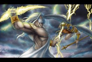 zeus vs horus by belgerles