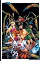 DOLLZ cover in color by Wieringo