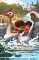 A sweetest kiss on mini goose boats by galgard