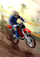 motocross card by Dmitrys