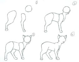 How to draw a cat Part 1. by Hawkfire11111