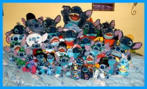 My Stitch Plushies Collection by shamrockpatrol