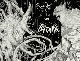 The Nameless Horror vs Batman by Sch1itzie