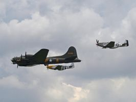 B17 with escort by davepphotographer