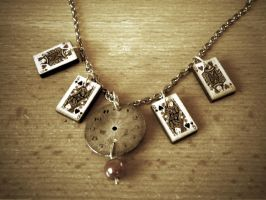 Deck of Cards necklace by StaticSkies