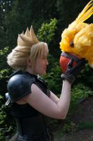 Even Cloud smiles for chocobos by NomesCosplay
