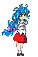 New style Blue hair girl by Jump-Button