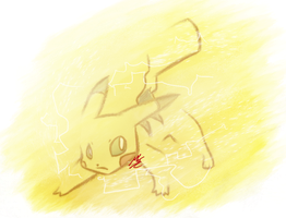 Volt Tackle Pikachu by MariPari