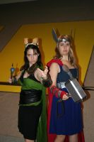 Rule 63 Loki and Thor by Witch-Hunter-87