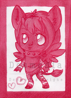 ACEO monochrome for jocyhope [gift] by DesmodiaDesigns