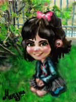 My version of Vanellope Von Sheets (no candy) by MeryMNB