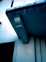 Icicles over the Eaves by HoukouSakura