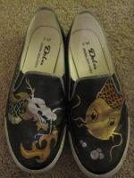 Koi and Dragon shoes by SugiAi