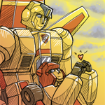 Commission: Red and Skyfire by Humblebot