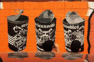 orange cans by orticanoodles