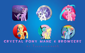 Crystal Pony Browsers by Togekisspika35
