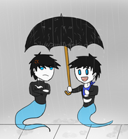 Under the Umbrella by SilverSoulArtist