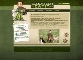Dog Trainer site by eyenod