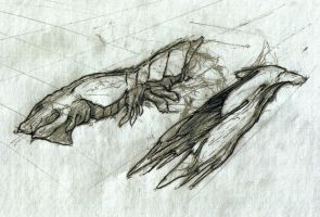 Alien Spaceship Sketches by Heliofob