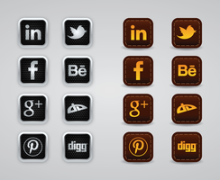 Web Buttons Social Bookmarks vector graphics by pic2graf
