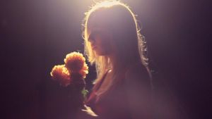 with lonely flowers by Laplum