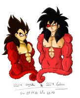Super Saiyanjins_Colored by Nei-Ning