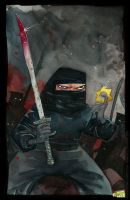 Ninjas watercolor by rogercruz