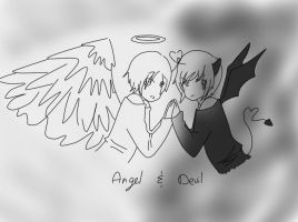 APH: Angel And Devil by LeilaThatDerp
