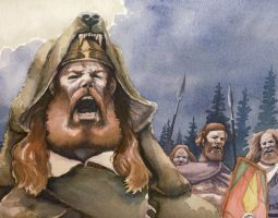 Bellowing across the Rhine by deWitteillustration