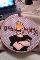 Johnny Bravo Embroidery by JustStrange