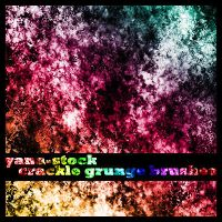 Crackle Grunge Brushes by yana-stock