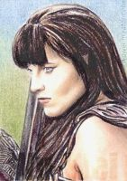Lucy Lawless mini-portrait by whu-wei