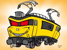 The Evil train by ThompArt