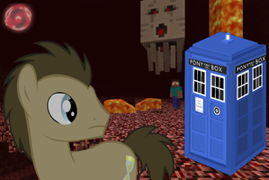 Dr Whooves VS Minecraft by Tardis34