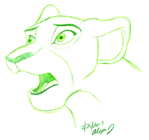 shocked Sarafina doodle by Stray-Sketches
