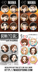 New Kpop Button Sets AVAILABLE NOW! by korilin