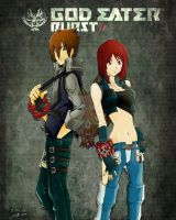 Male and Female God Eater by 09mund