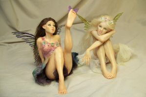 Fiorella and Lilianna flower fairies by AmandaKathryn