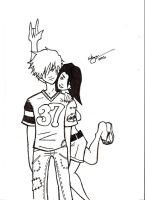 Young Couple 001 +INKS+ by slick-rick3715